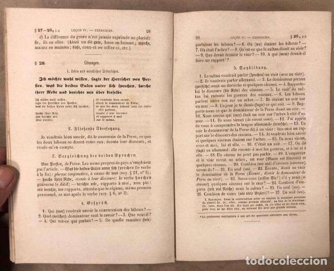 Libros antiguos: COURS DE LANGUE ALLEMNADE. PAR J. SAVOYE. LIBRAIRE POUR LES LANGUES ÉTRANGÉRES 1873. - Foto 4 - 209071991