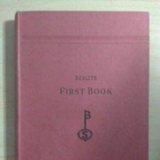Libros antiguos: ENGLISH, FIRST BOOK - BERLITZ 537TH EDITION 1ST REPRINT. Lote 211892111