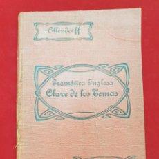 Libros antiguos: ANTIGUO LIBRO 1918 GRAMATICA INGLESA. Lote 212010300