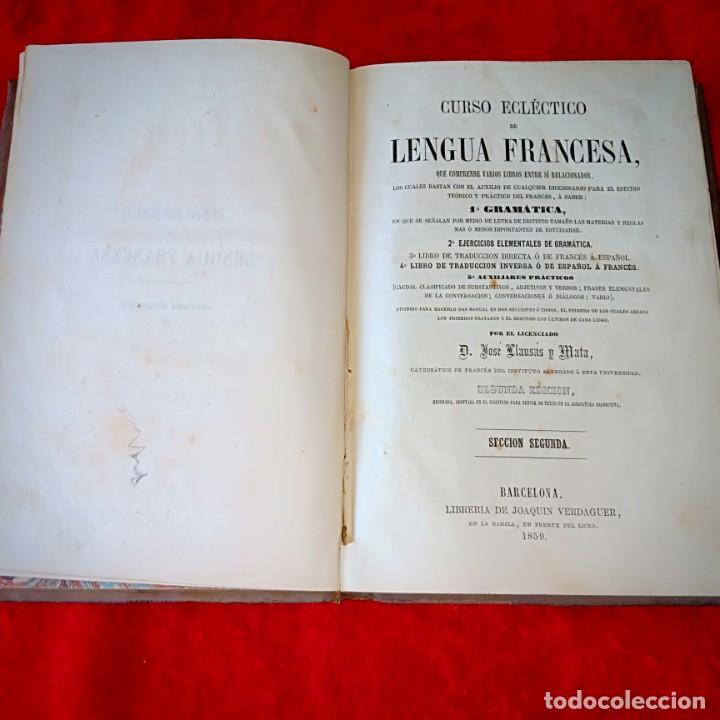 CURSO ECLECTIGO DE LENGUA FRANCESA (Libros Antiguos, Raros y Curiosos - Cursos de Idiomas)