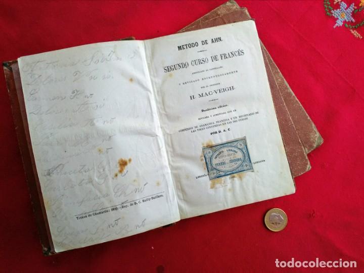 Libros antiguos: Libros antiguos Curso de francés - Foto 5 - 215726223
