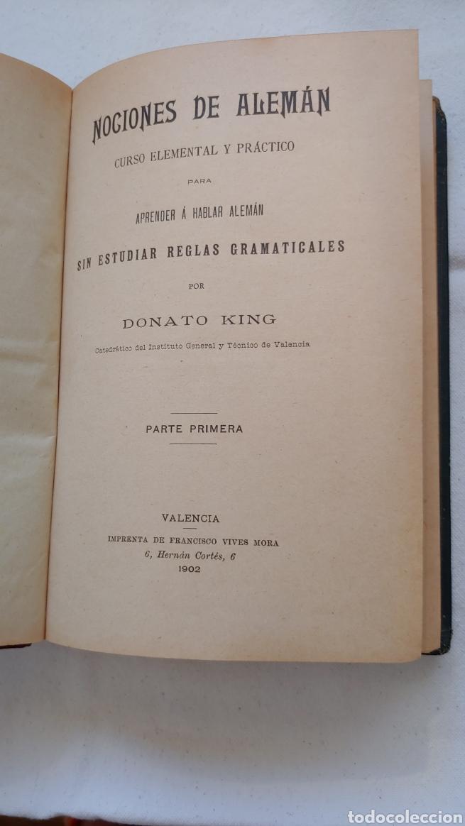 Libros antiguos: Antiguo libro Nociones de alemán curso elemental y práctico - Foto 4 - 217444720