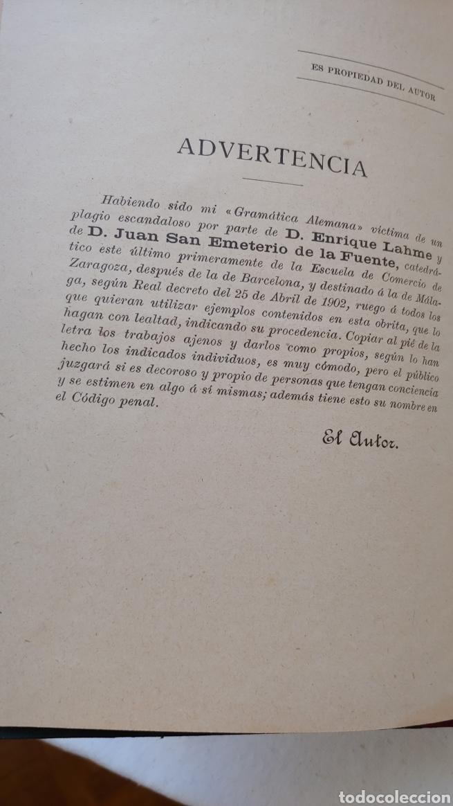 Libros antiguos: Antiguo libro Nociones de alemán curso elemental y práctico - Foto 5 - 217444720