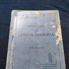 Libros antiguos: METODO DE LENGUA FRANCESA, TERCER AÑO (TARSICIO SECO Y MARCOS) (BURGOS 1935). Lote 220438178