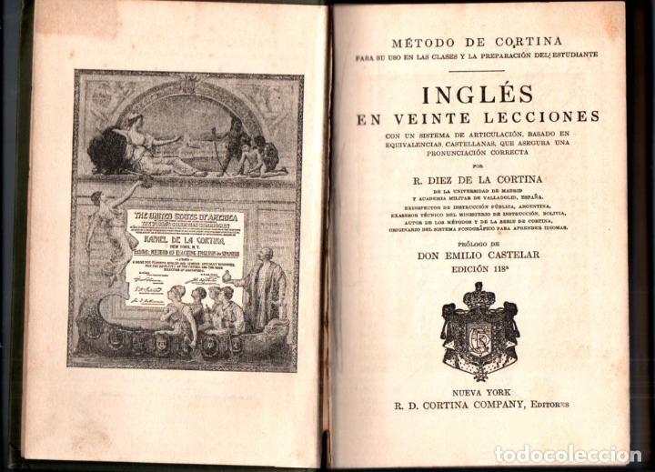 MÉTODO DE INGLÉS DE CORTINA (NEW YORK, C. 1910) (Libros Antiguos, Raros y Curiosos - Cursos de Idiomas)