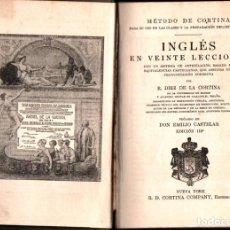 Libros antiguos: MÉTODO DE INGLÉS DE CORTINA (NEW YORK, C. 1910). Lote 221587997