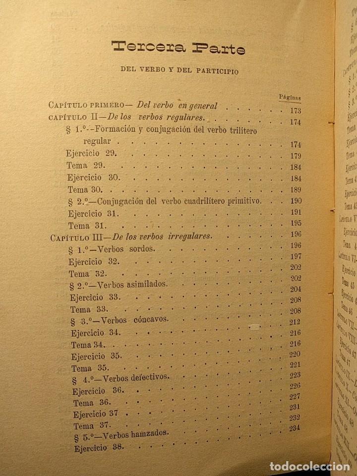Libros antiguos: Rudimentos del árabe vulgar. Imperio de Marruecos. José Lerchundi. Tánger. 1925. - Foto 7 - 222399228