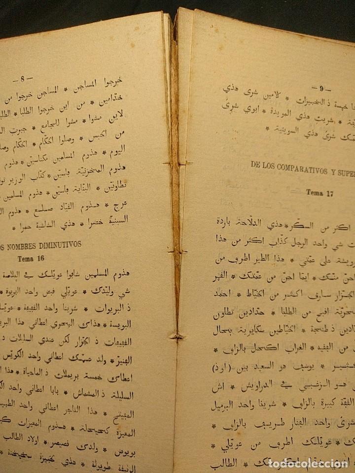 Libros antiguos: Rudimentos del árabe vulgar. Imperio de Marruecos. José Lerchundi. Tánger. 1925. - Foto 11 - 222399228