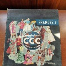 Libros antiguos: CCC - FRANCES I - CURSO DE IDIOMAS, CON FASCICULOS Y VINILOS.. Lote 224423965