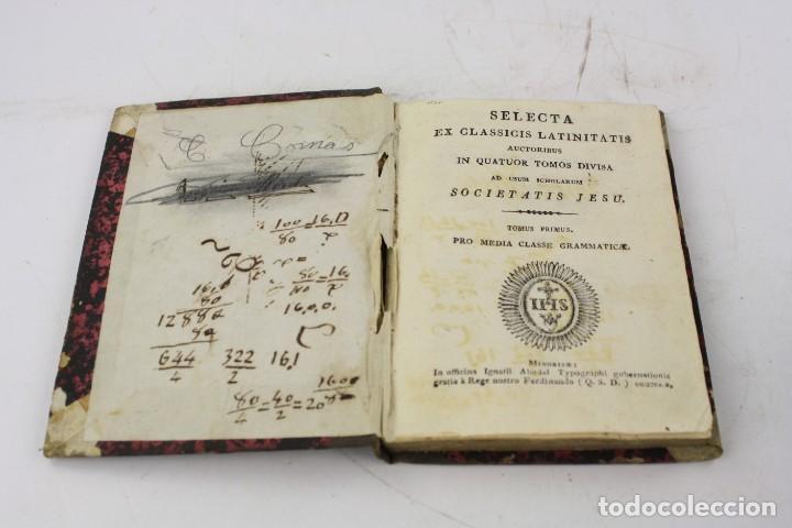 Libros antiguos: Selecta ex classicis latinitatis, tomus primus, Ignatii Abadal, Minorisae. 17,7x11,2cm - Foto 2 - 224978500