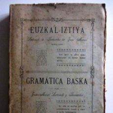 Libros antiguos: EUZKAL-IZTIYA-GRAMÁTICA BASKA.LERTXUNDI TA BAZTARRIKA-TAR JUAN MANUEL. SAN SEBASTIÁN 1913. Lote 229216810
