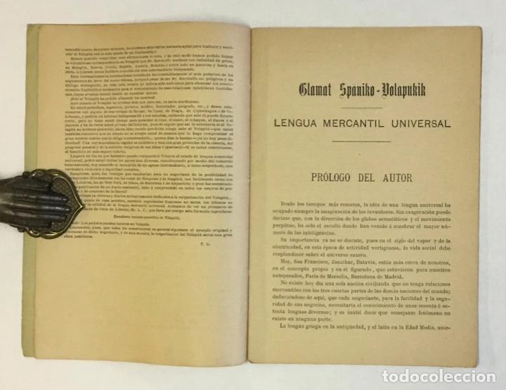 Libros antiguos: EL VOLAPÜK. Novísima gramática de la lengua mercantil universal. - COSTE, J. - Foto 3 - 230694795