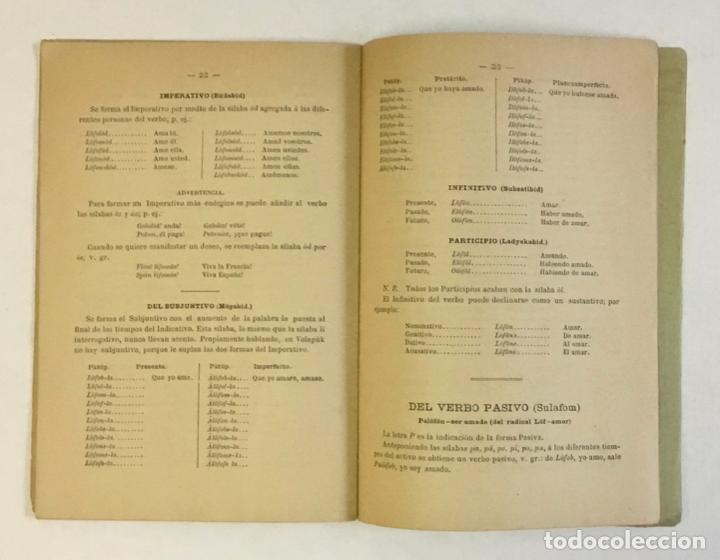 Libros antiguos: EL VOLAPÜK. Novísima gramática de la lengua mercantil universal. - COSTE, J. - Foto 5 - 230694795