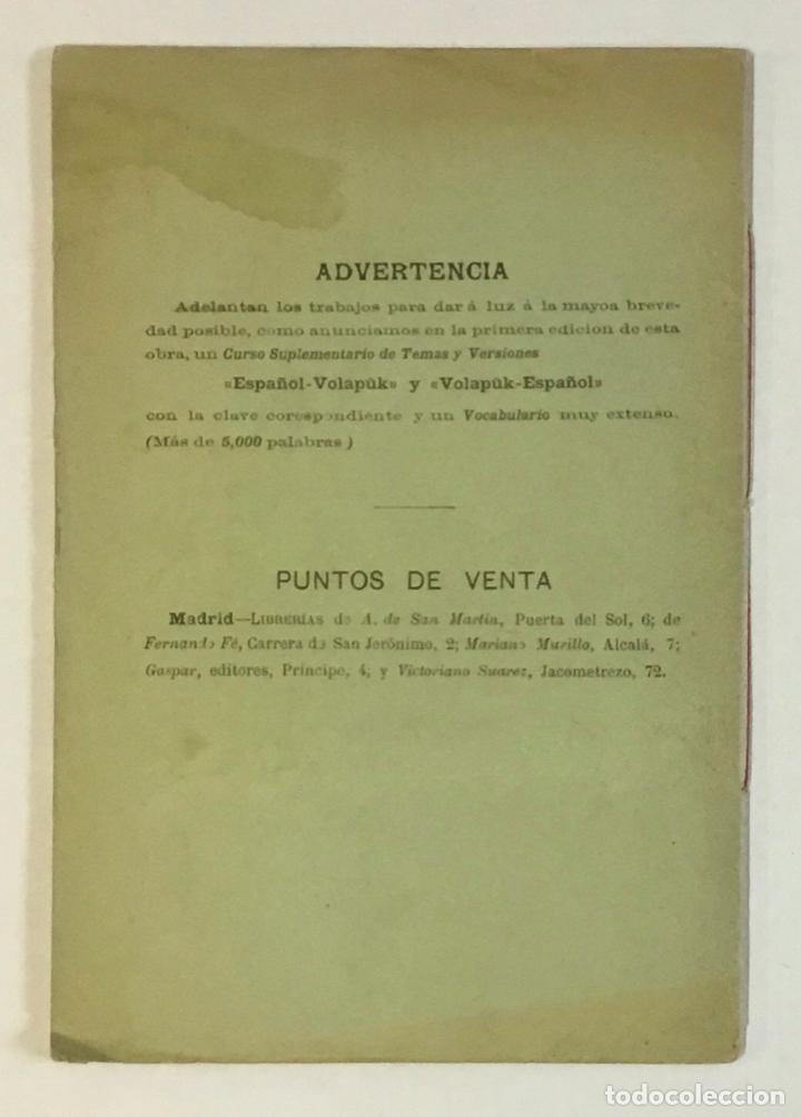 Libros antiguos: EL VOLAPÜK. Novísima gramática de la lengua mercantil universal. - COSTE, J. - Foto 6 - 230694795