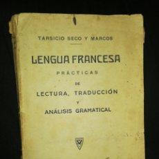 Libros antiguos: (1929),LENGUA FRANCESA, IMPRENTA LA MODERNA, LÉON, LECTURA, TRADUCCIÓN Y ANÁLISIS GRAMATICAL.. Lote 233941095