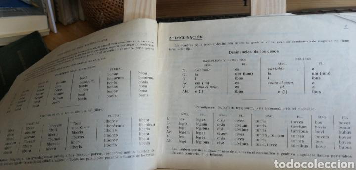 Libros antiguos: Decilnaciones y congugaciones latinas. Folleto escolar sin fecha ni autor( años 50?) 17 pp. 7 cuadr - Foto 2 - 234297185
