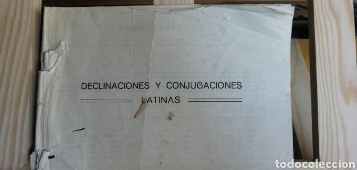 DECILNACIONES Y CONGUGACIONES LATINAS. FOLLETO ESCOLAR SIN FECHA NI AUTOR( AÑOS 50?) 17 PP. 7 CUADR (Libros Antiguos, Raros y Curiosos - Cursos de Idiomas)