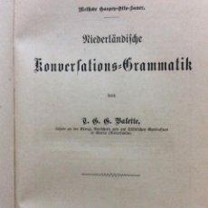 Libros antiguos: NIEDERLÄNDISCHE KONVERSATIONS-GRAMMATIK, AUTHOR: VALETTE, T. G. G, 1891. EN ALEMÁN.. Lote 235237515