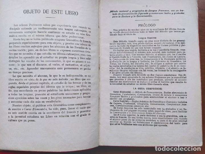 Libros antiguos: Alphonse Perrier. Lengua Francesa: Curso Superior. Nueva Edición, 1927. - Foto 4 - 237515135