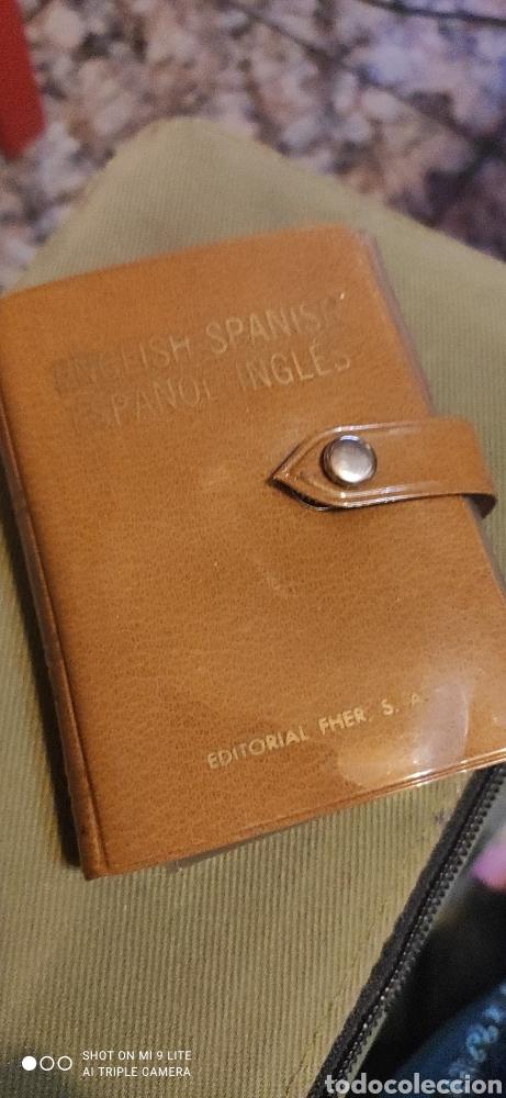 Libros antiguos: Miniatura, diccionario español inglés - Foto 3 - 240091710