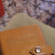Libros antiguos: MINIATURA, DICCIONARIO ESPAÑOL INGLÉS. Lote 240091710