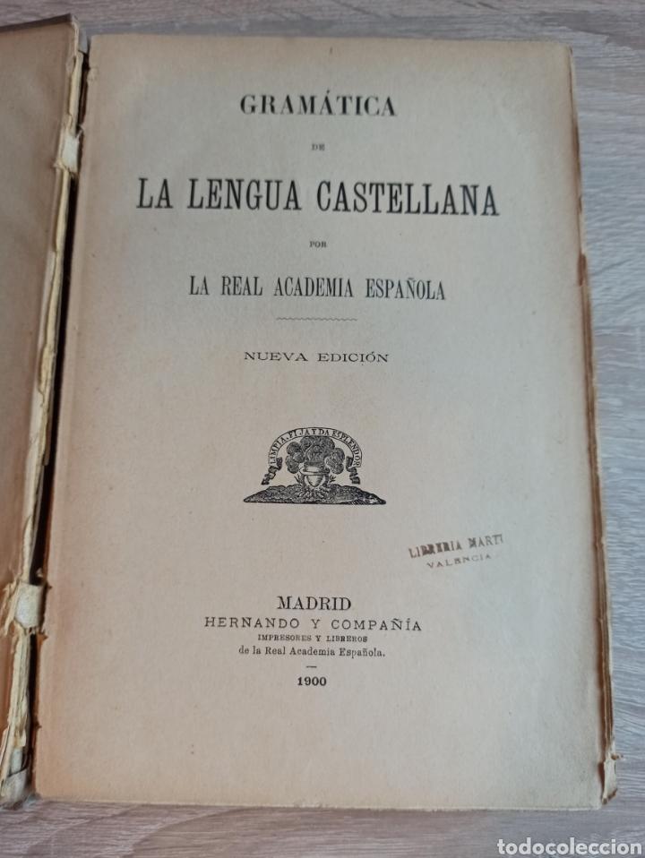 Libros antiguos: Academia Española Gramática de la Lengua Castellana Nueva Edición 1900 - Foto 3 - 244722780
