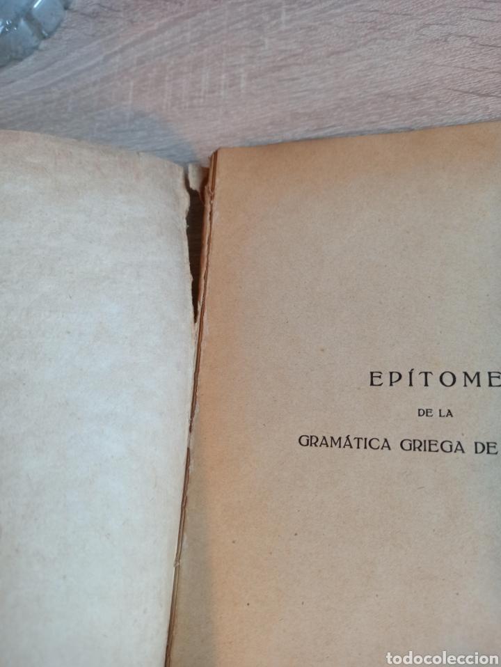 Libros antiguos: Epítome de la Gramática Griega Madrid Razon y Fe 1923 - Foto 2 - 244723465