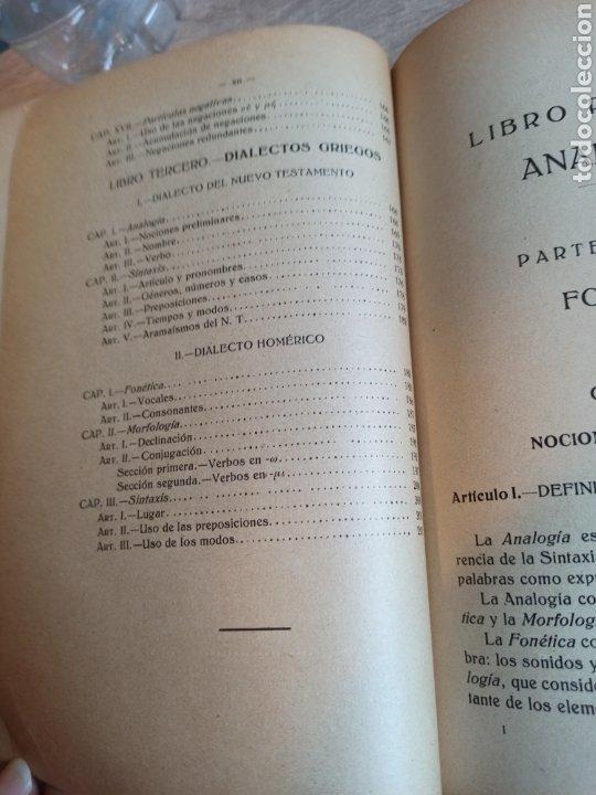 Libros antiguos: Epítome de la Gramática Griega Madrid Razon y Fe 1923 - Foto 9 - 244723465