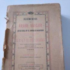 Libros antiguos: RUDIMENTOS DEL ÁRABE VULGAR. JOSÉ LERCHUNDI. 1925. Lote 244805940