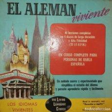 """Libros antiguos: CURSO """"EL ALEMAN VIVIENTE"""".. Lote 245527110"""