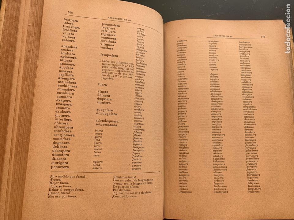Libros antiguos: Diccionario de asonantes i consonantes por Eduardo Benot - Foto 5 - 248421770