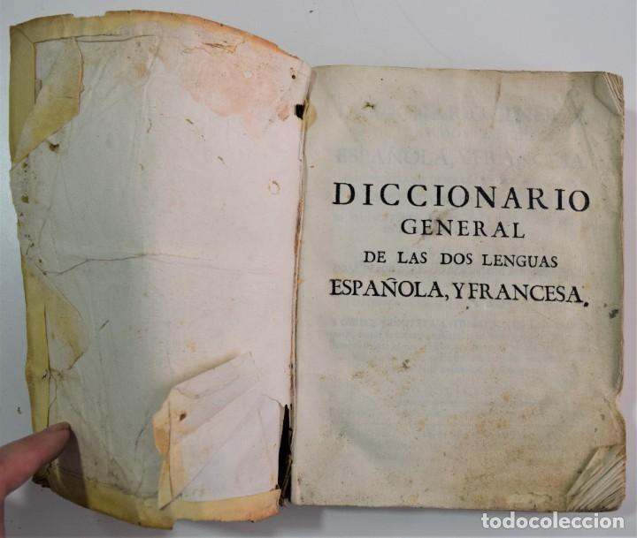 Libros antiguos: DICCIONARIO GENERAL DE LAS DOS LENGUAS ESPAÑOLA Y FRANCESA 1ª PARTE - GONZÁLEZ DE MENDOZA AÑO 1761 - Foto 3 - 254615250