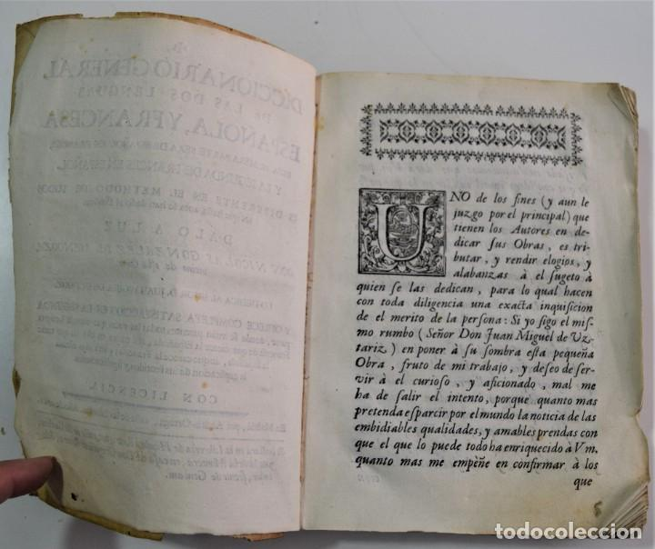 Libros antiguos: DICCIONARIO GENERAL DE LAS DOS LENGUAS ESPAÑOLA Y FRANCESA 1ª PARTE - GONZÁLEZ DE MENDOZA AÑO 1761 - Foto 4 - 254615250