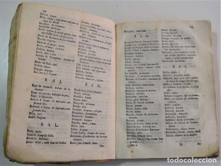 Libros antiguos: DICCIONARIO GENERAL DE LAS DOS LENGUAS ESPAÑOLA Y FRANCESA 1ª PARTE - GONZÁLEZ DE MENDOZA AÑO 1761 - Foto 6 - 254615250