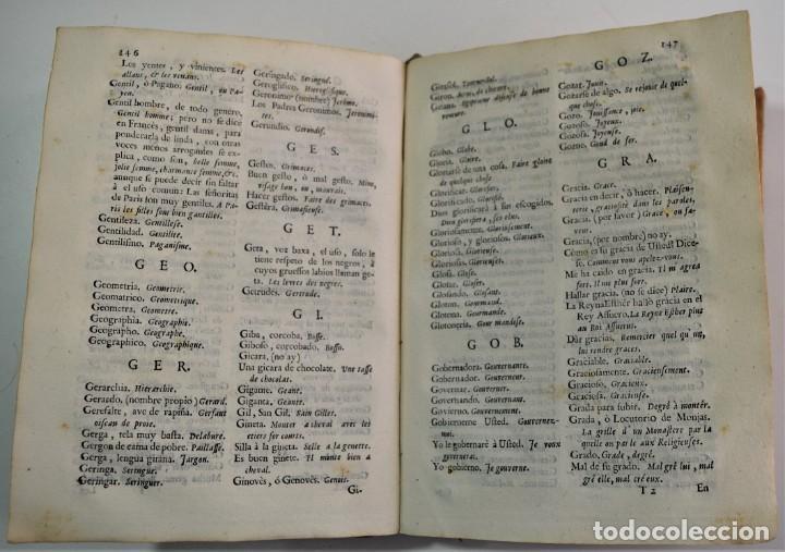 Libros antiguos: DICCIONARIO GENERAL DE LAS DOS LENGUAS ESPAÑOLA Y FRANCESA 1ª PARTE - GONZÁLEZ DE MENDOZA AÑO 1761 - Foto 8 - 254615250