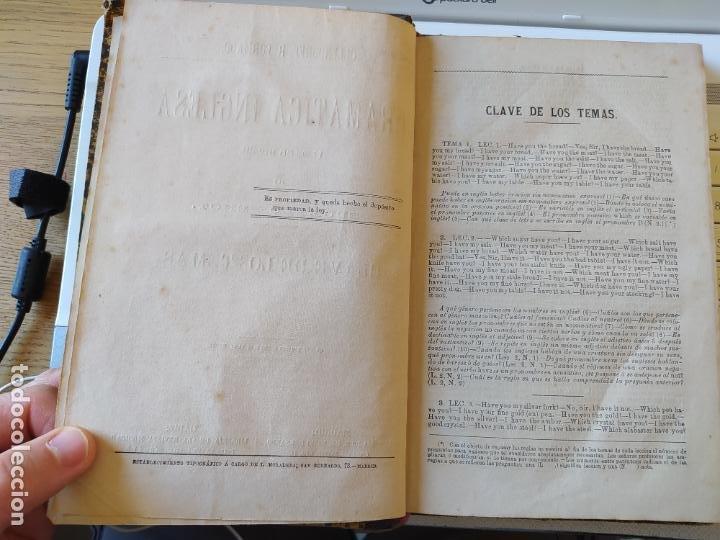 Libros antiguos: Gramática inglesa y método para aprenderla, Benot, ed. Gregorio Hernando, 1878 - Foto 12 - 259303960