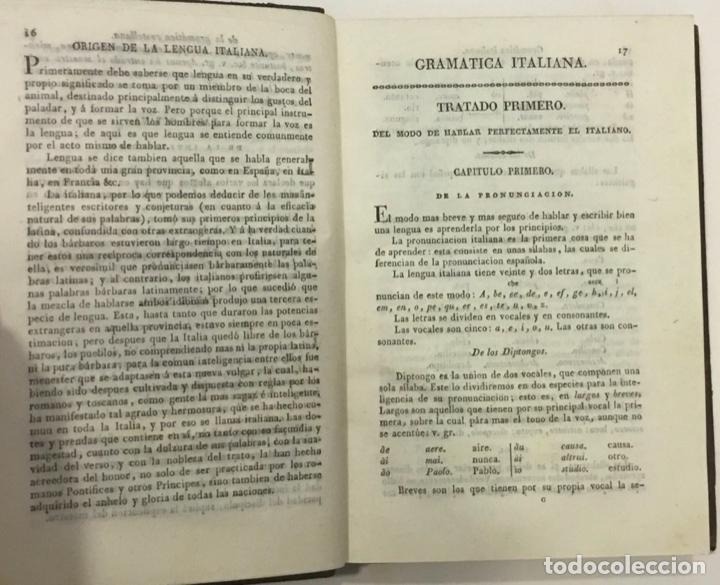 Libros antiguos: TOMASI, Pedro. NUEVA Y COMPLETA GRAMATICA ITALIANA EXPLICADA EN ESPAÑOL. Imprenta Real. Madrid, 1824 - Foto 4 - 261194415