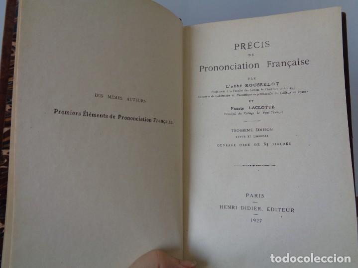 Libros antiguos: ¡¡ PRECIS DE PRONONCIATION FRANCAISE. AÑO 1927. !! - Foto 14 - 273424558