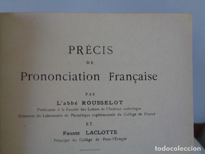 Libros antiguos: ¡¡ PRECIS DE PRONONCIATION FRANCAISE. AÑO 1927. !! - Foto 16 - 273424558