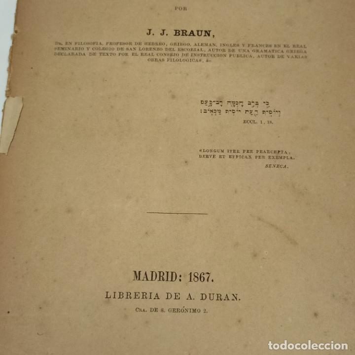 Libros antiguos: GRAMATICA HEBREA CUESO TEORICO-PRACTICO BRAUN J.J. Editorial: LIBRERIA DE A. DURAN, 1867 - Foto 2 - 275789803