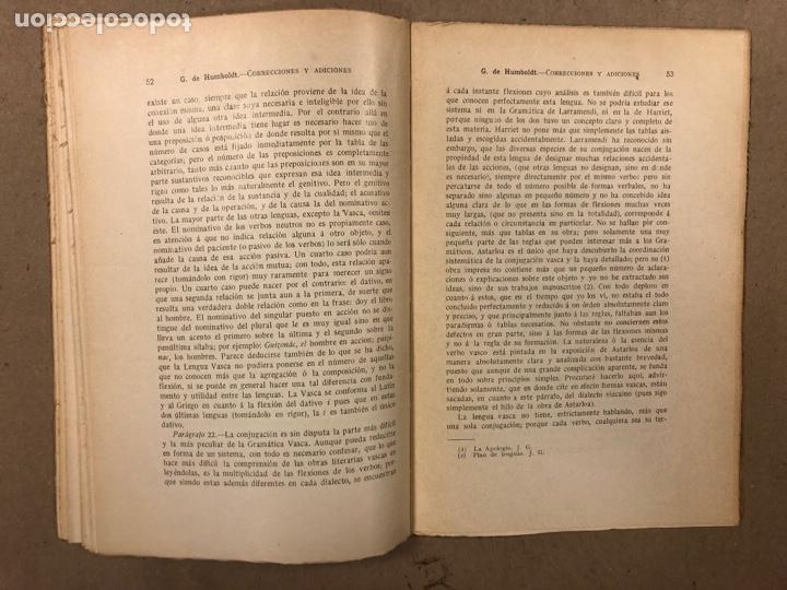 Libros antiguos: CORRECCIONES Y ADICIONES AL MITHRIDATES DE ADELUNG SOBRE LENGUA CANTÁBRICA O VASCA. GUILLERMO DE HUM - Foto 7 - 283035998