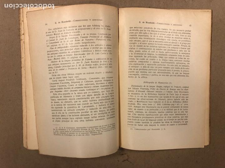 Libros antiguos: CORRECCIONES Y ADICIONES AL MITHRIDATES DE ADELUNG SOBRE LENGUA CANTÁBRICA O VASCA. GUILLERMO DE HUM - Foto 8 - 283035998
