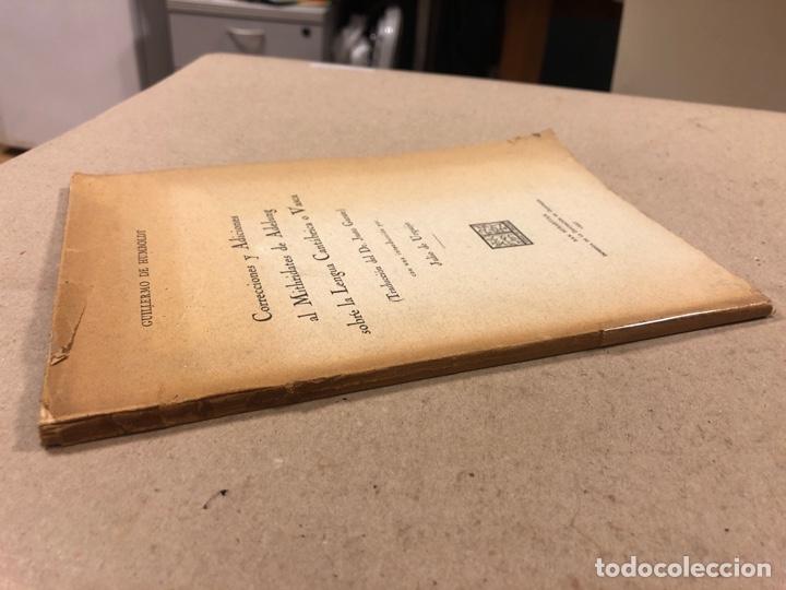Libros antiguos: CORRECCIONES Y ADICIONES AL MITHRIDATES DE ADELUNG SOBRE LENGUA CANTÁBRICA O VASCA. GUILLERMO DE HUM - Foto 10 - 283035998