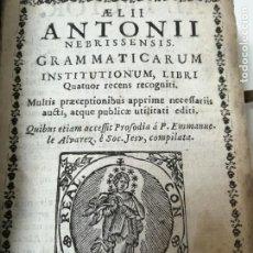 Libros antiguos: GRAMATICA DE ANTONIO DE NEBRIJA AÑO 1738 EXPLICADA EN CATALAN MUY RARO CERBERA. Lote 285133423