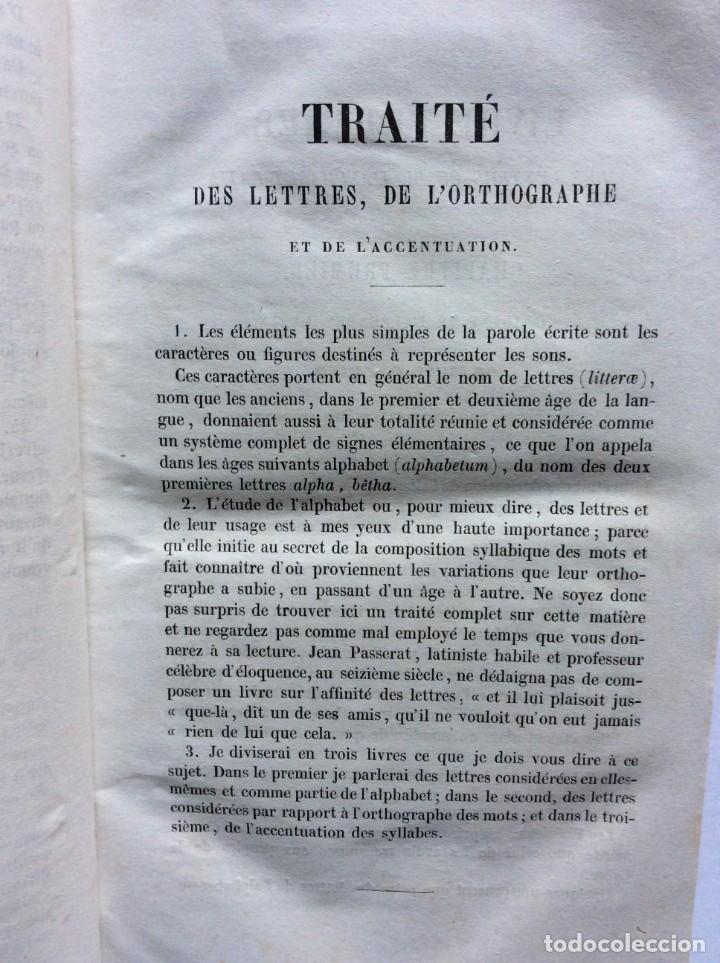 Libros antiguos: GRAMMAIRE LATINE, TRAITE DES LETTRES, DE LORTHOGRAPHE ET DE LACCENTUATION, 1842. RARO - Foto 4 - 285368418