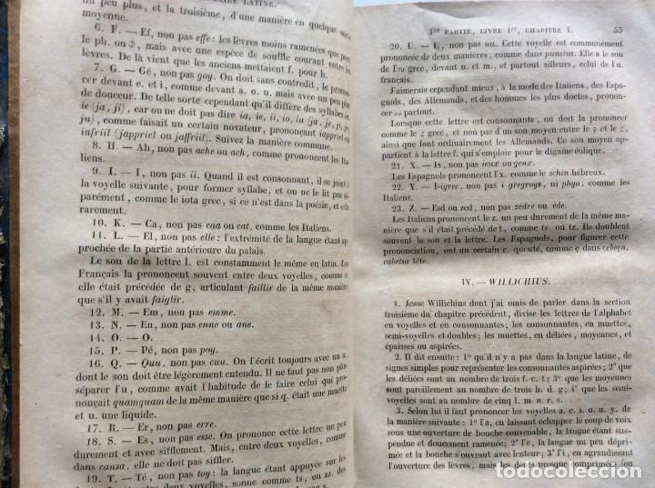 Libros antiguos: GRAMMAIRE LATINE, TRAITE DES LETTRES, DE LORTHOGRAPHE ET DE LACCENTUATION, 1842. RARO - Foto 7 - 285368418