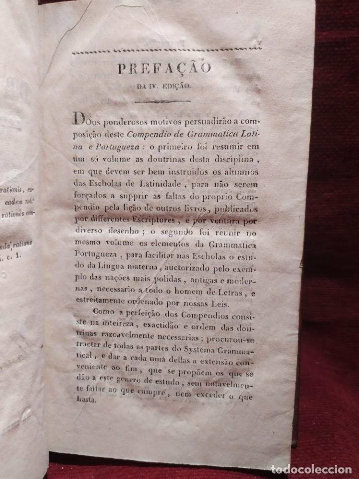 Libros antiguos: 1847. Compendio de gramática latina y portuguesa. José Vicente Gomes de Maura. - Foto 8 - 286264318