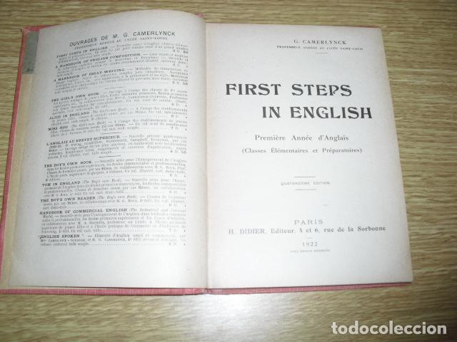Libros antiguos: FIRST STEPS IN ENGLISH - 1922 - Foto 2 - 286718703