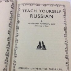 Libros antiguos: TEACH YOUSELF RUSSIAN. MAXIMILIN FOURMN, 1952. Lote 286763188