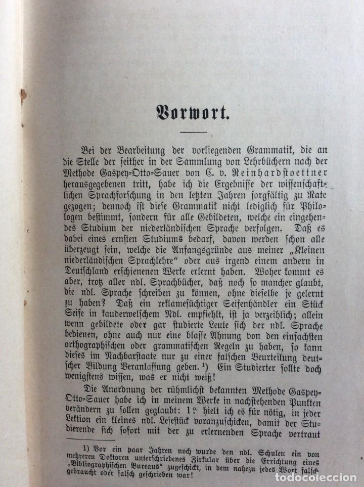 Libros antiguos: Niederländische Konversations - grammatik, por Valette, Théodore G. Año 1891. Muy raro. - Foto 3 - 286877028